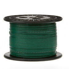 """18 AWG Gauge Solid Hook Up Wire Green 250 ft 0.0403"""" UL1007 300 Volts"""