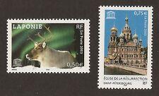 FRANCE 2003 - Timbres de Service UNESCO n° 128 et 129 NEUFS** LUXE MNH