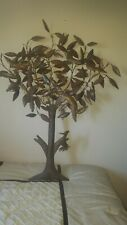 Metal Tree of Life Wall decor vintage with birds and springy woodpecker 52x42x8