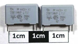 Vishay MKP 338 1 Polypropylene Film Capacitor 10nF 440Vac X1 (Pack of 2)