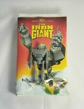 Vintage The Iron Giant Vhs Tape With Promo Toy Action Figure 1999 Htf
