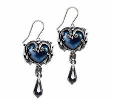 Affaire du Coeur par de pendientes azul barroco Corazón colgante Alchemy Gothic