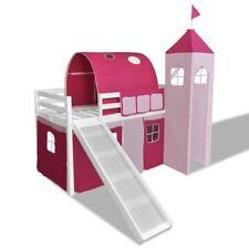 vidaXL Cama Alta Infantil Castillo con Tobogán y Escalera Madera Varios Colores