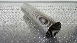 """OFFROAD ARSENAL 5"""" ID 18"""" LONG FLEX PIPE STAINLESS STEEL EXHAUST STACK DIESEL"""