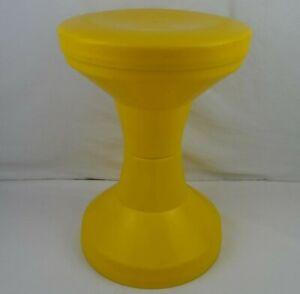 Vintage Yellow Tam Tam Stool MCM Made in Denmark Mid Century Modern Plastic