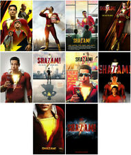 Shazam! Movie 2019 Mirror Surface Card Sticker Promo Card Poster Sticker ERSAas