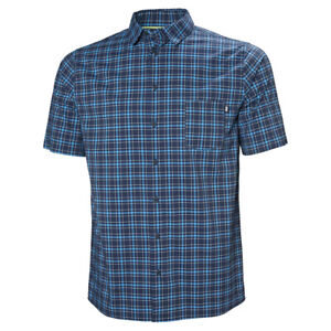 HH Men's Fjord Quick Dry Short Sleeve Shirt | Blue Plaid | 2XL or M | 34048