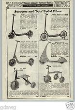 1933 PAPER AD Skippy Racer Sidewalk Scooter Streamline Skirts