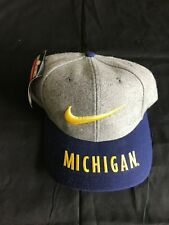 University of Michigan Gray Flannel Nike Hat Cap Snapback Nike Swoosh NOS NWHT