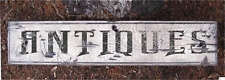 ANTIQUES -  Rustic Painted Wooden Sign