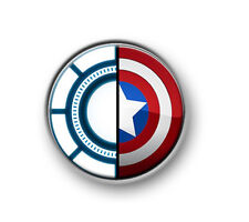 "CAPTAIN AMERICA: CIVIL WAR 1"" / 25mm / pin button / badge / Marvel / Iron Man"