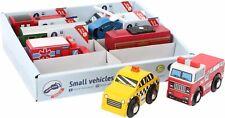 Small Foot Piccoli veicoli  legno 10645 treno elicottero polizia pompieri