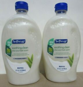 (2 Pack) SOFTSOAP Soothing Clean 32 Ounce Aloe Vera HAND SOAP Refills JUMBO SIZE