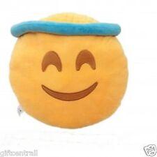 "USA SELLER Angel Emoji Pillow 12"" Inch Yellow Smiley 30cm Emoticon Smile Plush"