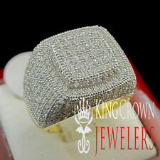 MENS GENUINE SILVER MICRO DIAMOND SIMULATED WEDDING ENGAGEMENT PINKY RING BAND