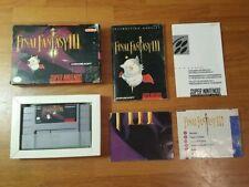 Final Fantasy III 3 (Nintendo SNES, 1994) 100% Complete in Box CIB Map + Poster