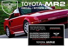 84-89 AW10/AW11 TOYOTA MR2 SUPERCHARGED TRD DECAL TRI-LINE STRIPE STICKER KIT