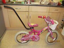 Parent Controlling Handle Pole Stick For Children Kids Bike Black