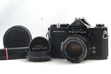 @ Ship in 24 Hrs @ Rare Black & Near Mint! @ Pentax SP Spotmatic Film SLR Camera
