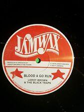 "JAMWAX 12"" BLOOD A GO RUN  / DRUNKEN MASTER LEROY BROWN/ SOUL SYNDICATE"