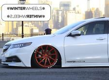 Pegatinas ruedas De Invierno Llantas steelies Stock Pegatina de coche lado calcomanía de falda