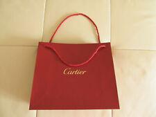 CARTIER PARFUMS GIFT RED SHOPPING BAG GOLD LOGO 12.5 x 11 x 4.75 inch.