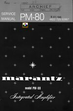 Service Manual-Anleitung für Marantz  PM-80
