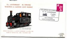 AJ210 1973 GB Gales welspool Llanfair Light Railway carta Cubierta
