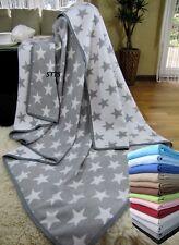 Wohndecke Baumwolldecke Plaid 140x205cm 100% Baumwolle Kuscheldecke Grau-Weiß