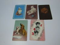 5 Single Swap Playing Cards Cat Cats Kitty Kitties 30110 Junk Journal