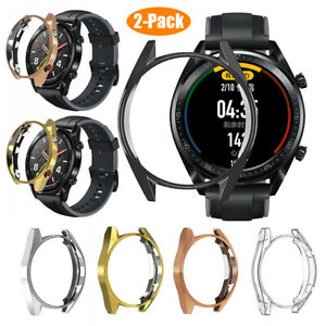 For HUAWEI WATCH GT 2 46mm TPU Slim Smart Watch Protective Case Plating Cover