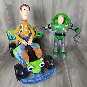 Thinkway Disney Pixar Toy Story LOT RC Car - Pulls String Woody - Hasbro Buzz