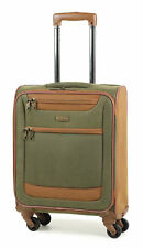 Members Boston Lightweight Imitation Suede Spinner Luggage Cases Olive Green Large 78cm