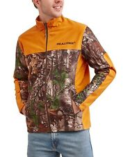 Realtree bonded micro fleece jacket L orange/camo