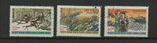 Vietnam du Nord 1969 victoires diverses 3 timbres oblitérés /TR8438