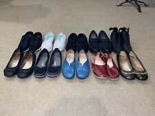 Lot Of (10) Pair Woman's Flats, Clogs, Ankle Boots Shoes