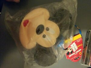 Vintage Walt Disney Mickey Mouse Head Plastic Canteen With Shoulder Strap