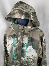 Cabelas OUTFITHER Women's Dry Plus Camo Hunting Full ZIP HOOD Jacket Coat Size M