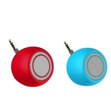 2x Mini Speaker 3W 3.5mm AUX Jack MP3 Player Amplifier for Mobile Phone