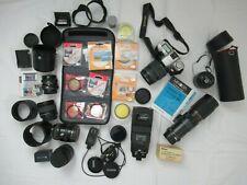 Minolta Camera Zoom Lenses Filters Accessories Lot Treasure Trove Lot