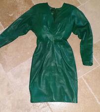 Italian Leather Dress by designer Maia Colani
