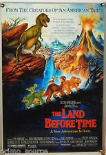 THE LAND BEFORE TIME DS ROLLED ORIG 1SH MOVIE POSTER DON BLUTH DINOSAURS (1988)