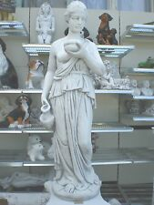 Frau Statue Dame XL 130 cm hoch Steinfigur massiv Garten Figur Skulptur Neu