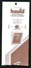Hawid Stamp Mounts Size 63/210 BLACK Background Pack of 25