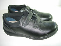 WOMENS NEW BLACK LEATHER DREW LOTUS ORTHOPEDIC SNEAKERS WALKING SHOES SIZE 10 M