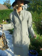Escada Couture Blazer JACKE Landhaus grau gold 40/42 NP1280,-36/38 GOLF College