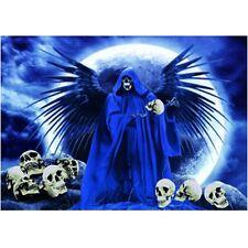 3D Druck Sensenmann Reaper mit Flügeln und Schädeln Skull Gothic Halloween 3D055