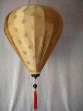 Lampenschirm Asien Thaiseide Bambus Deko (Onion Gold XL) #028