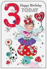 Girls 3rd Birthday Card