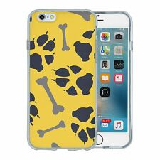 For Apple iPhone 6 6S Silicone Case Paw Print Pattern - S8520